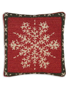 alpine snowflake pillow