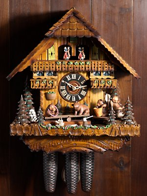 bears on seesaw cuckoo clock clocks home Gorsuch from gorsuch.com