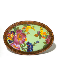 flower market small wicker tray