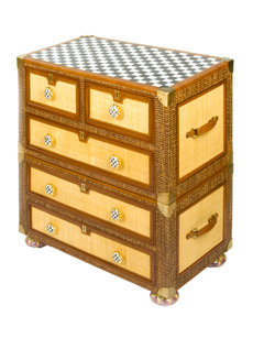 courtly campaign captain's chest