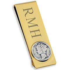 Engravable 18K Gold Electroplated Money Clip