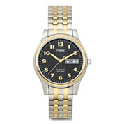 Timex® Mens Two-Tone Expansion Band Watch