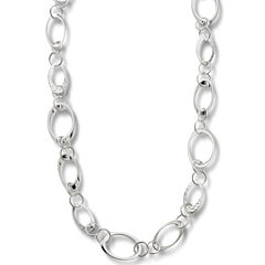 Worthington® Silver-Tone Circle Link Long Necklace