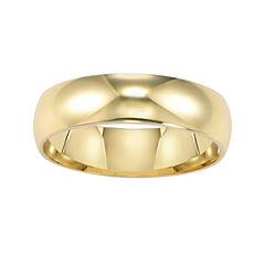 14K Gold 6mm Men's Ring