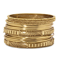 Mixit™ 14-pc. Gold-Tone Bangle Bracelet Set