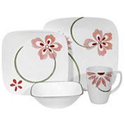 Corelle® Square™ Pretty Pink 16-pc. Dinnerware Set