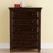 Bedford Baby Monterey 5-Drawer Dresser - Chocolate