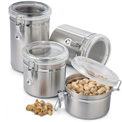 OGGI™ 4-pc. Stainless Steel Canister Set