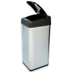 iTouchless® 13-Gal. Extra-Wide Stainless Trash Can