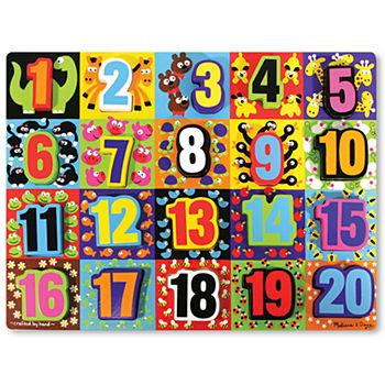 Melissa Amp Doug Chunky Jumbo Numbers Puzzle