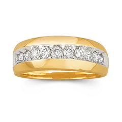Mens Diamond Band 1 CT. T.W. 10K
