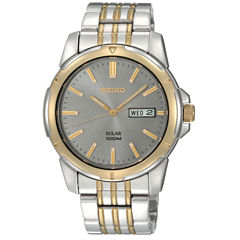 men s watches for jewelry watches jcpenney seiko® mens two tone solar watch sne098