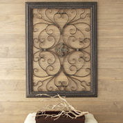 Iron Medallion Scroll Wall Art