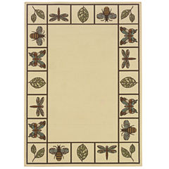 Covington Home Montego Summer Buzz Indoor/Outdoor Square Rugs
