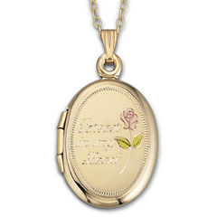 Forever In My Heart Locket 18K over Sterling Silver