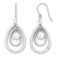 Cultured Freshwater Pearl & Sparkle Bead Earrings