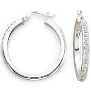 Diamond Fascination™ 31mm Round Hoop Earrings