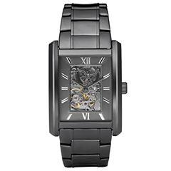 Relic® Mens Gunmetal Automatic Skeleton Watch ZR77206