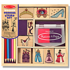 Melissa & Doug® Princess Wood Ink Stamp Set