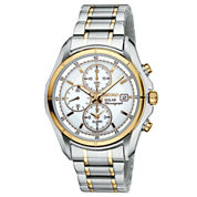 Seiko® Mens Two-Tone Multifunction Solar Watch SSC002