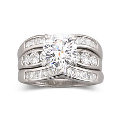 DiamonArt® Cubic Zirconia Engagement 3-Ring Set