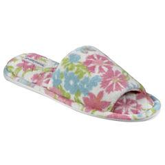 Dearfoams® Terry Open-Toe Scuff Slippers