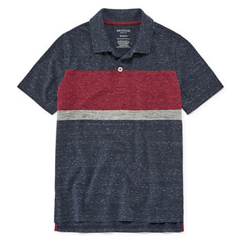 Arizona Boys Spread Collar Short Sleeve Polo Shirt Preschool Big Kid