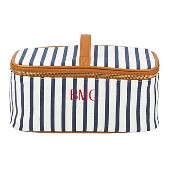 Cathy Concepts Personalized Striped Toiletry Bag