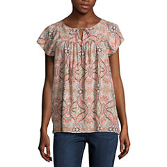 St. John's Bay Short Sleeve Blouse