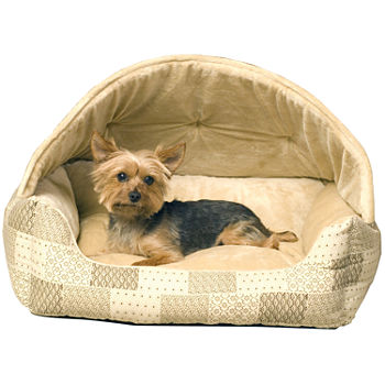 K Amp H Manufacturing Lounge Sleeper Hooded Pet Bed 20 X 25