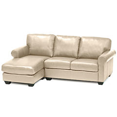 Leather Possibilities Roll-Arm 2-pc. Left-Arm Sectional