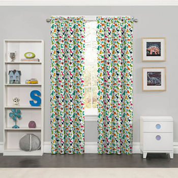 Eclipse Dippy Dinos Blackout Rod pocket Curtain Panel
