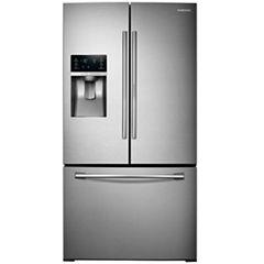 Samsung ENERGY STAR® 27.8 cu. ft. 3-Door French-Door Refrigerator with Food Showcase Design