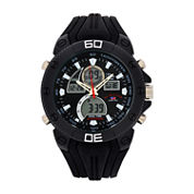U.S. Polo Assn. Mens Black Strap Watch-Us9665jc