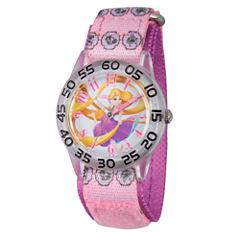 Disney Tangled Girls Pink Strap Watch-W002958