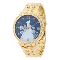 Disney Cinderella Womens Gold Tone Bracelet Watch-W002158
