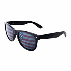 Retro Rectangle Sunglasses with American Flag Lens