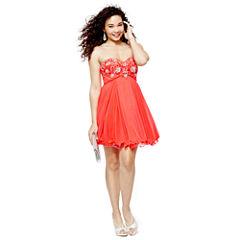 My Michelle® Jeweled Sweetheart-Neckline Dress