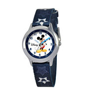 Disney Mickey Mouse Boys Blue Strap Watch-W000015