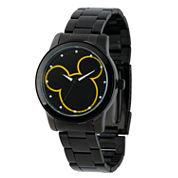 Disney Mickey Mouse Mens Black Bracelet Watch-W001989