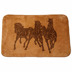 Hiend Accents Wild Horses Bath Rug Collection