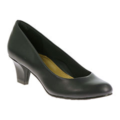 Hush Puppies® Gail Leather Pumps - Wide