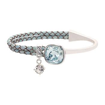 Sparkle Allure Blue Pure Silver Over Brass Wrap Bracelet