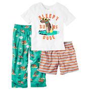 Carter's 3-pc. Pant Pajama Set Boys