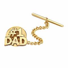 no.1 Dad Gold-Plated Tie Tack