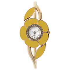 Mixit Womens Gold Tone Bangle Watch-Jcp2976gyl