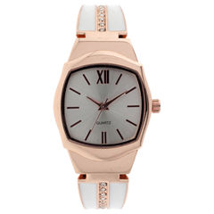 Mixit Womens Rose Goldtone Bangle Watch-Jcp2975rwt