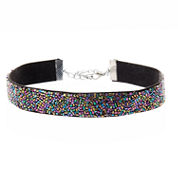Natasha Accessories Womens Multi Color Crystal Choker Necklace