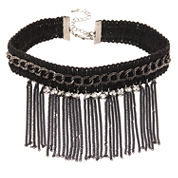 Natasha Accessories Womens Clear Crystal Choker Necklace