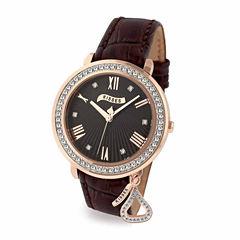 Hershey Kisses Womens Brown Strap Watch-Ks013rgbn